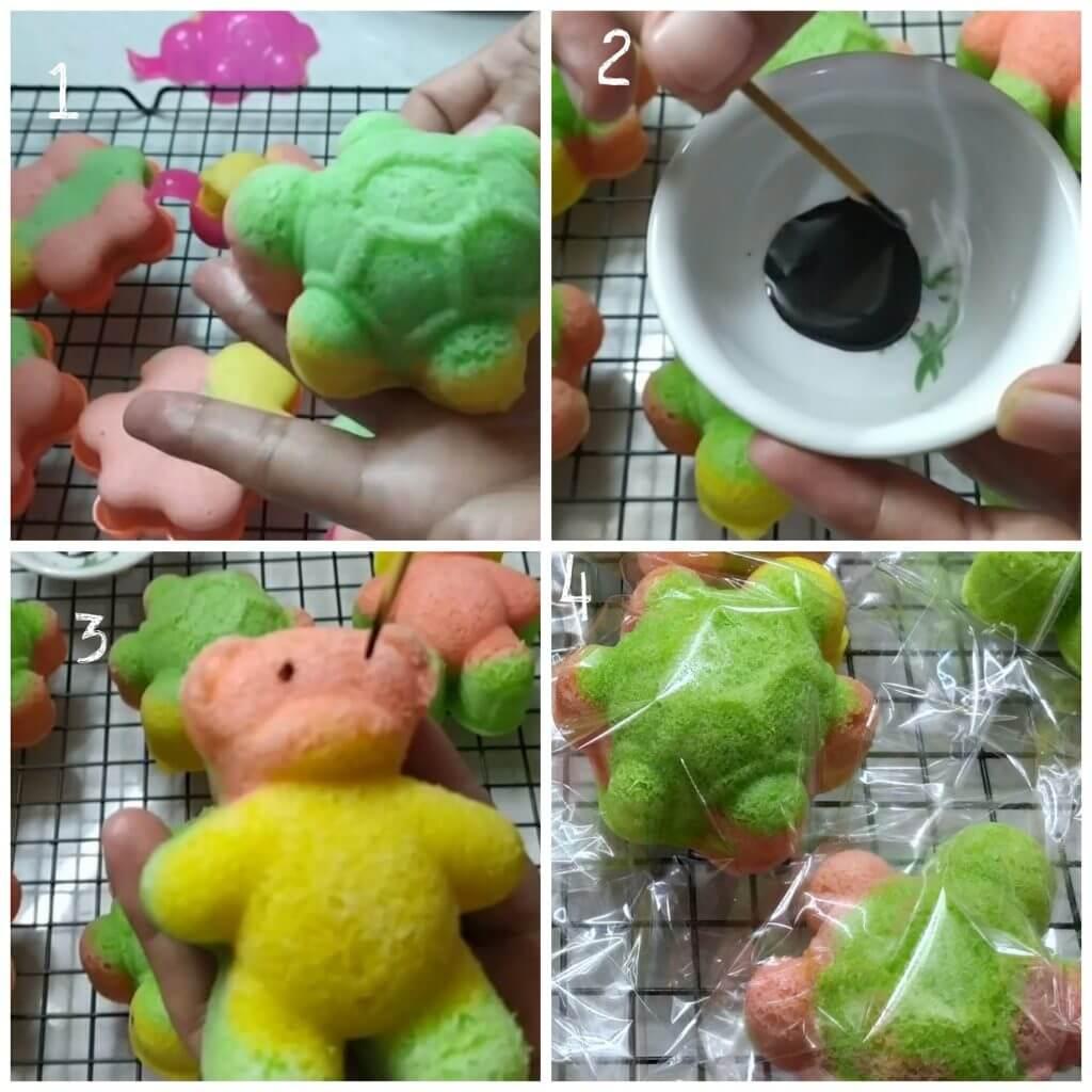 Cara membuat bolu kukus boneka. Bolu kukus karakter