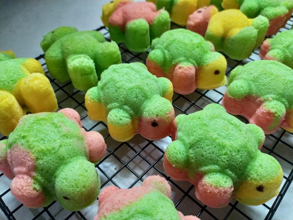 Kue bolu kukus kura kura yang lembut