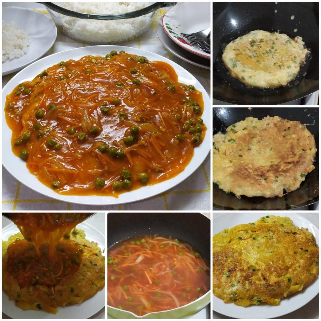 Cara membuat fuyunghai udang, resep fuyunghai asam manis