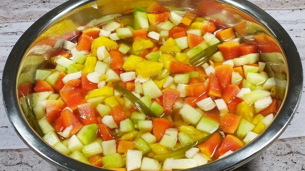 Cara membuat es buah jadul