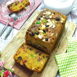 Resep english fruit cake lembut dan moist, christmas cake recipe