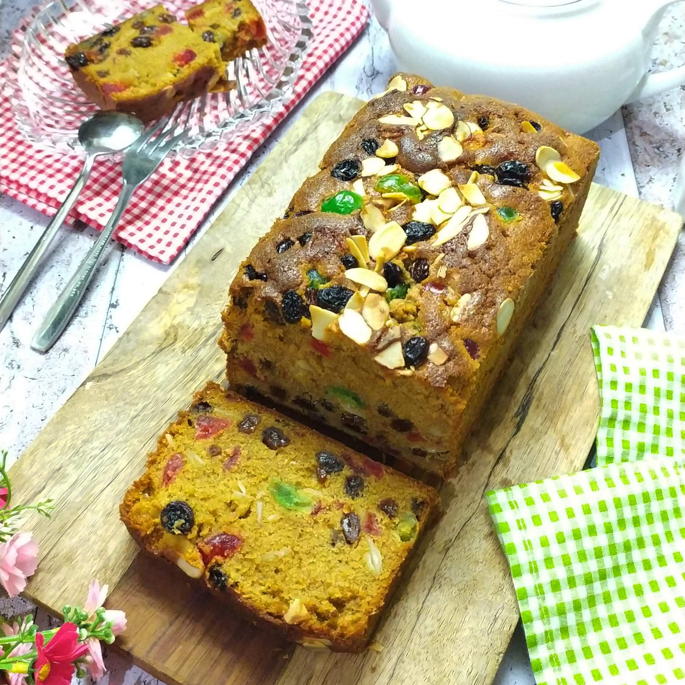 Resep english fruit cake lembut dan moist, christmas cake recipe