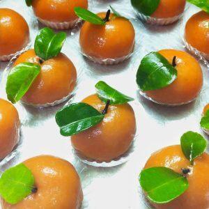resep kue ku jeruk enak lembut, resep kue ku bentuk jeruk