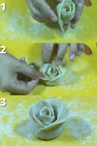 cara membentuk dimsum ayam lembut bentuk mawar