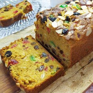 english fruit cake enak dan lembut, englist fruit cake recipe