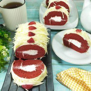 cara membuat bolu gulung red velvet enak dan lembut