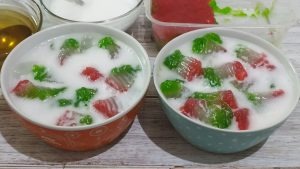 Resep es selendang mayang khas betawi, cara membuat es selendang mayang
