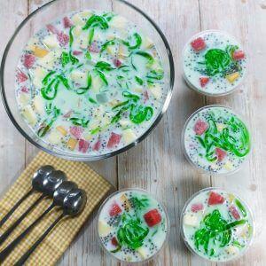 resep es buah kekinian untuk takjil, resep es buah manis dan segar