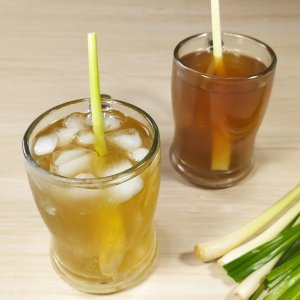 resep teh sereh jahe segar dan manis, resep lemongrass tea