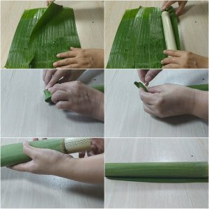Cara membuat lontong daun pisang, resep lontong daun hemat gas, cara merebus lontong cepat matang