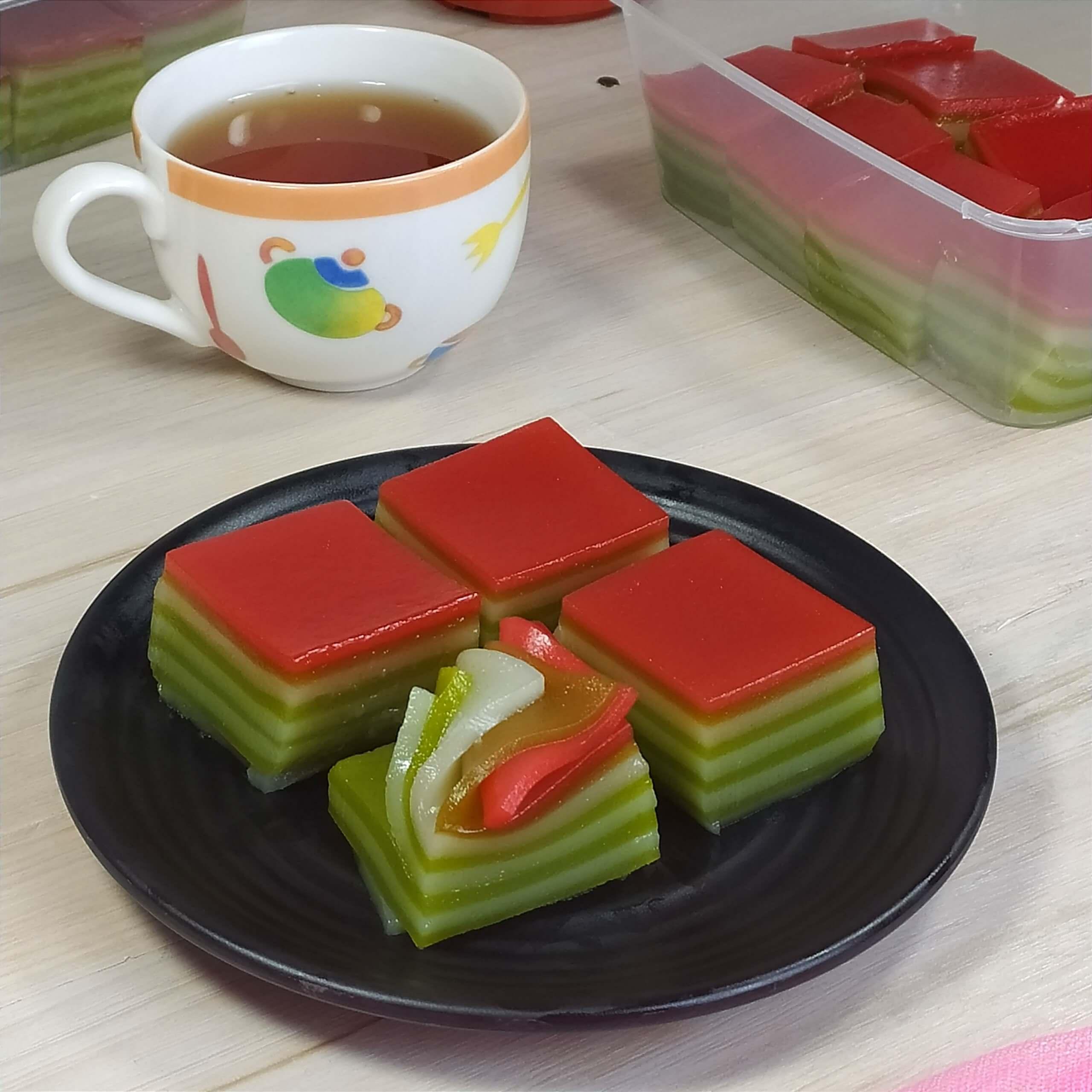 resep lapis kanji pandan enak